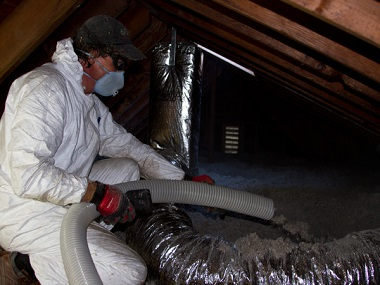 removing cellulose fiber insulation
